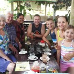 Having a relaxing moment at Spice garden with Mr. Damian and family from Australia - Mari Bali Tours