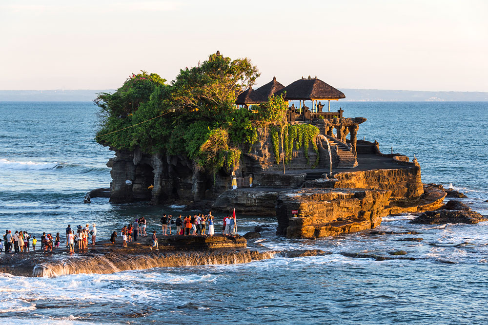 Tanah Lot Temple at beautiful stunning looks in Beraban village,  Bali Island - Mari Bali Tours