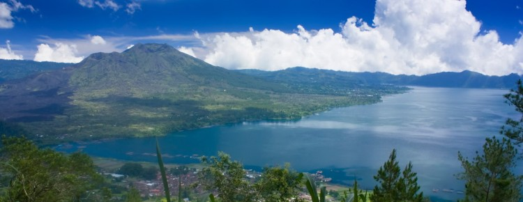 Batur volcano and lake at beautiful stunning view, in Kintamani - Mari Bali Tours