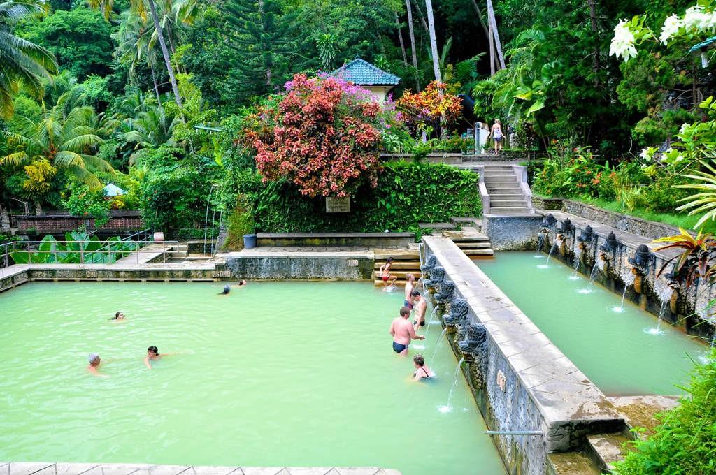 Hot spring at Banjar village - Mari Bali Tours