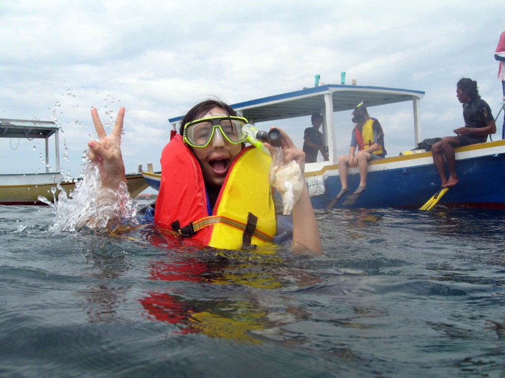 Snorkeling at the beach - Mari Bali Tours