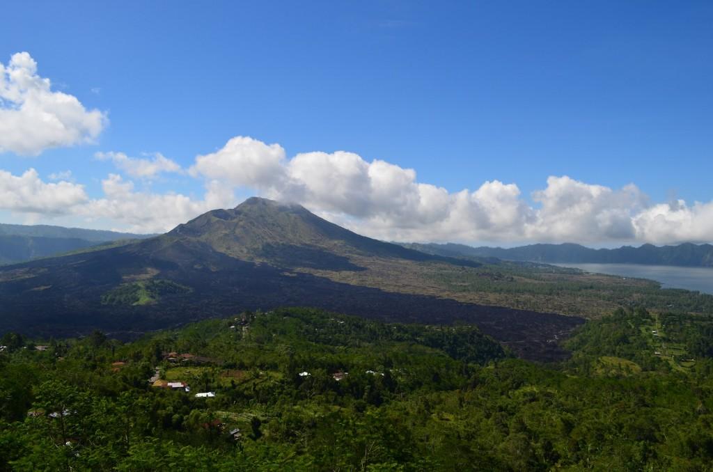 Volcano and lake Batur at wonderfull looks in Kintamani, Bali island - Mari Bali Tours