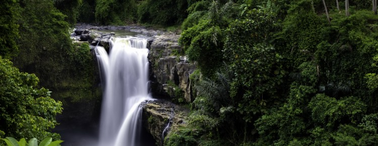 Tegenungan waterfall at beautiful looks in Gianyar regency, Bali - Mari Bali Tours
