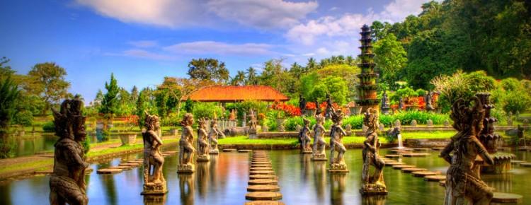 Tirtha Gangga (Holy Water park) at beautiful look in Abang village, Karangasem regency, Bali Island - Mari Bali Tours