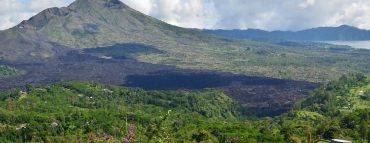 Batur volcano and lake at beautiful stunning view, in Kintamani - Mari Bali Tours
